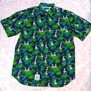 NWT DGK Hawaiian Style Skate Shirt Sz M